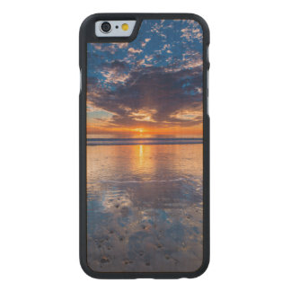 Dramatic seascape, sunset, CA Carved Maple iPhone 6 Slim Case