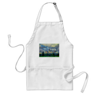 dramatic sky and clouds over charlotte north carol adult apron