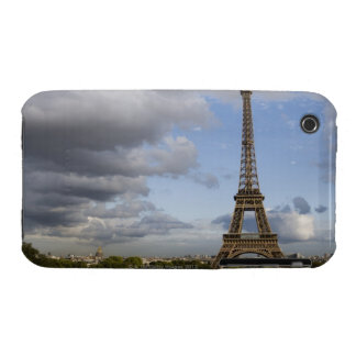 dramatic sky behind Eiffel Tower iPhone 3 Case-Mate Case