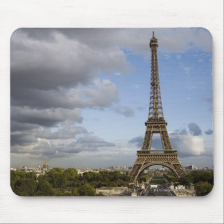 dramatic sky behind Eiffel Tower Mouse Pad