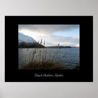 Dramatic sky, Dutch Harbor, Alaska Poster