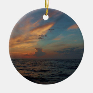 Dramatic Sky Double-Sided Ceramic Round Christmas Ornament