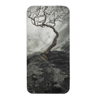 Dramatic sky over old lonely tree iPhone SE/5/5s/5c pouch