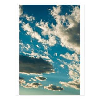 Dramatic sky postcard