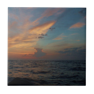 Dramatic Sky Small Square Tile