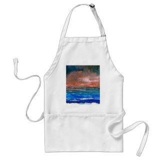 Dramatic Soft Light Ocean Art Designer Products Adult Apron
