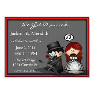 Dramatic Stage Elopement  / Reception Announcement