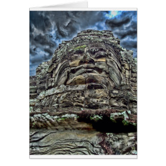 Dramatic Stone Face Greeting Card