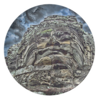 Dramatic Stone Face Dinner Plate