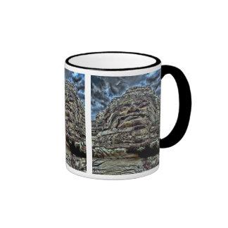 Dramatic Stone Face Mugs