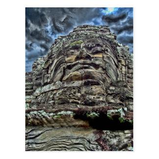 Dramatic Stone Face Postcard