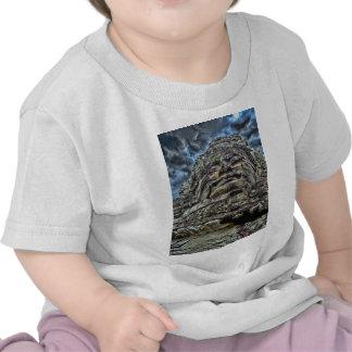 Dramatic Stone Face T-shirts