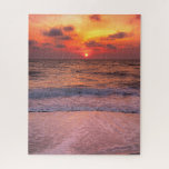 Dramatic Sunset  Beach In Naples, Florida Jigsaw Puzzle