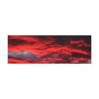 Dramatic sunset canvas canvas print