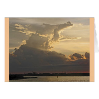 Dramatic Sunset, Clouds, Sky and Water Card
