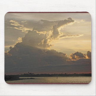 Dramatic Sunset, Clouds, Sky and Water Mouse Pad