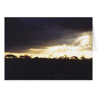 Dramatic Sunset Landscape Card