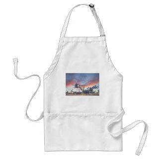 Dramatic sunset sky adult apron
