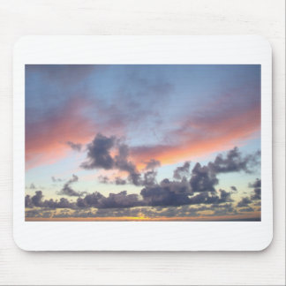 Dramatic sunset sky mouse pad