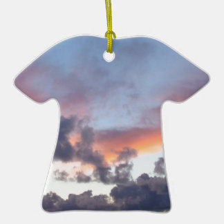 Dramatic sunset sky Double-Sided T-Shirt ceramic christmas ornament