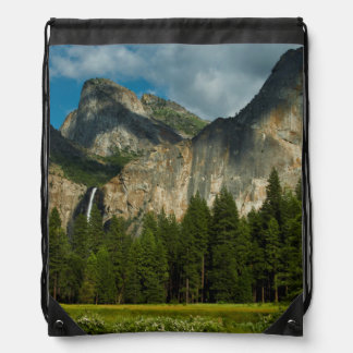 Dramatic View Of Yosemite Valley From The Gates Drawstring Bag