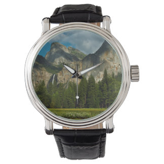 Dramatic View Of Yosemite Valley From The Gates Wristwatch