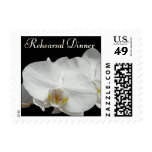 Dramatic White Orchid  custom invitation Postage