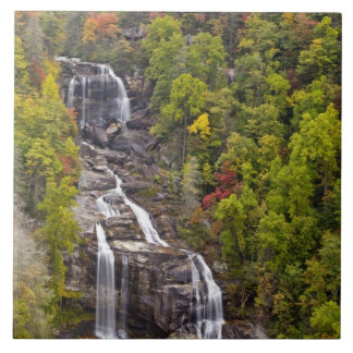 Dramatic Whitewater Falls in autumn in the Ceramic Tile