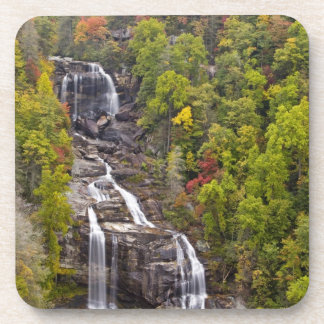 Dramatic Whitewater Falls in autumn in the Coaster