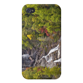 Dramatic Whitewater Falls in autumn in the Cover For iPhone 4