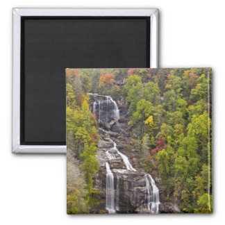 Dramatic Whitewater Falls in autumn in the Magnet