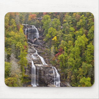 Dramatic Whitewater Falls in autumn in the Mouse Pad