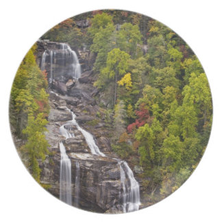 Dramatic Whitewater Falls in autumn in the Plate