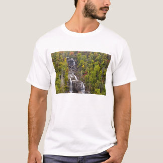 Dramatic Whitewater Falls in autumn in the T-Shirt