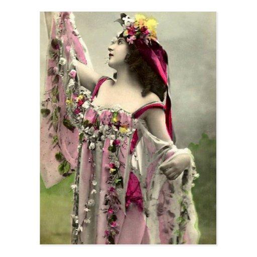 Dramático en flores postal