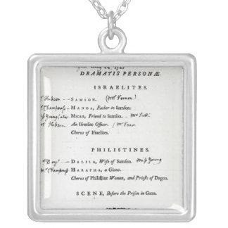 Dramatis Personae for Samson Square Pendant Necklace