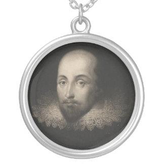 Dramaturgo William Shakespeare de Cornelio Jansen Collar Plateado