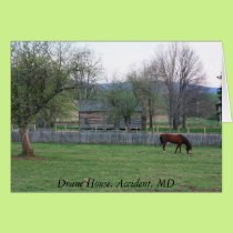 Drane House, Accident, MD Card