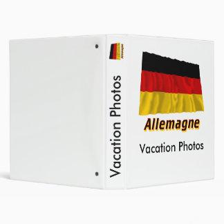 Drapeau Allemagne avec le nom en français Vinyl Binders