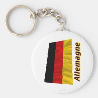 Drapeau Allemagne avec le nom en français Key Chain