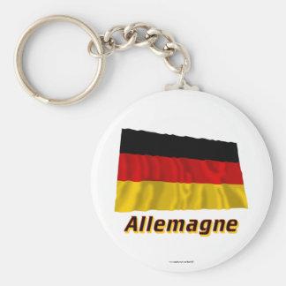 Drapeau Allemagne avec le nom en français Keychains