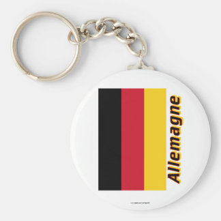 Drapeau Allemagne avec le nom en français Keychain