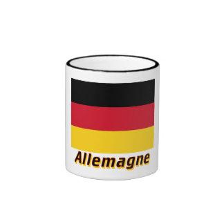 Drapeau Allemagne avec le nom en français Mug