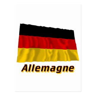 Drapeau Allemagne avec le nom en français Post Card