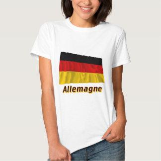 Drapeau Allemagne avec le nom en français T-shirt