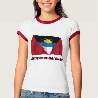 Drapeau Antigua-et-Barbuda avec le nom en français T-Shirt