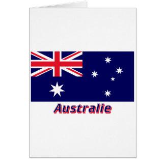 Drapeau Australie avec le nom en français Cards