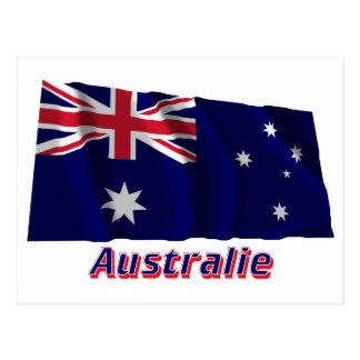 Drapeau Australie avec le nom en français Postcards