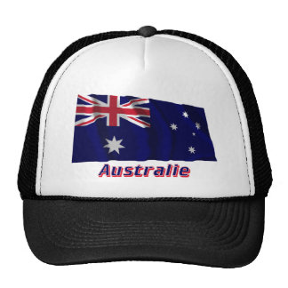 Drapeau Australie avec le nom en français Trucker Hat
