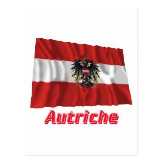 Drapeau Autriche avec le nom en français Post Card